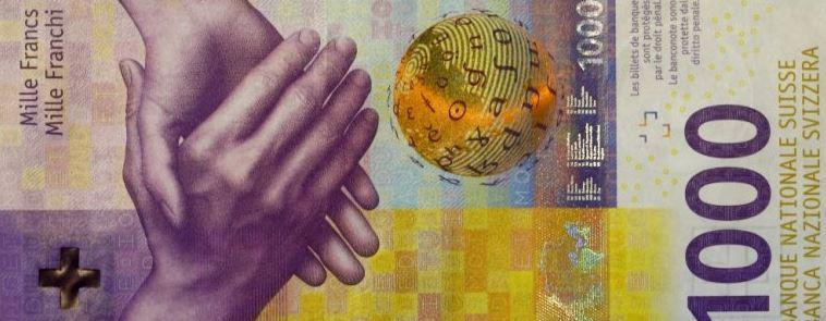 Αποτέλεσμα εικόνας για NEW SWISS BANKNOTE OF 1.000 FR